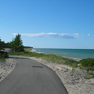 Huron Sunrise Trail along Lake Huron