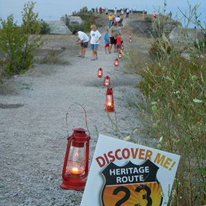 Rockport State Recreation Area evening walk with lanterns