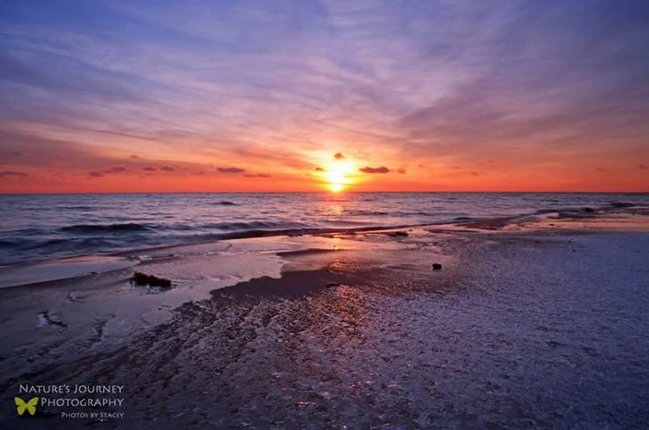 Winter Sunrise over Lake Huron