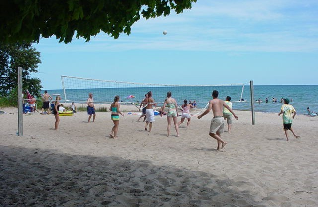 Beach Volleyball at Harrisville State Park