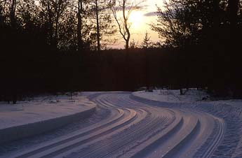 Corsair Trails groomed for winter cross-county skiing