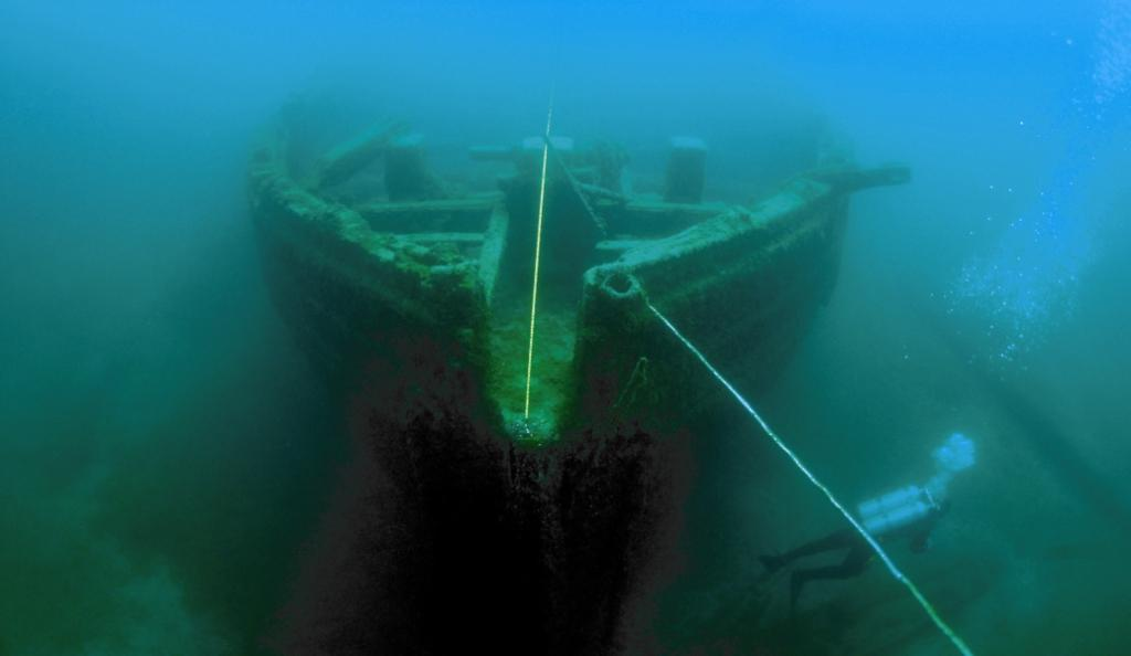 E.B. Allen - one of the many shipwrecks lying in Thunder Bay