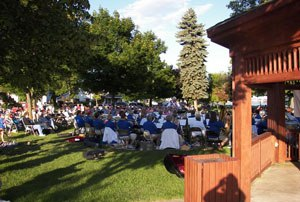 Monday night concert in the park