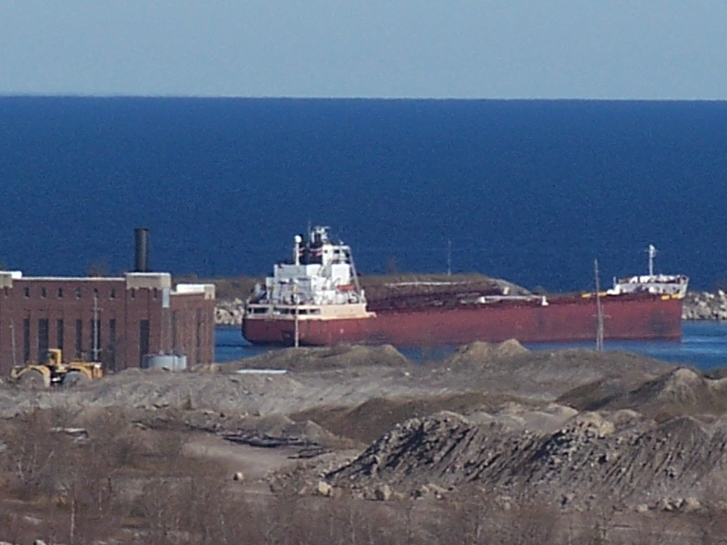 Vessel entering Port of Calcite