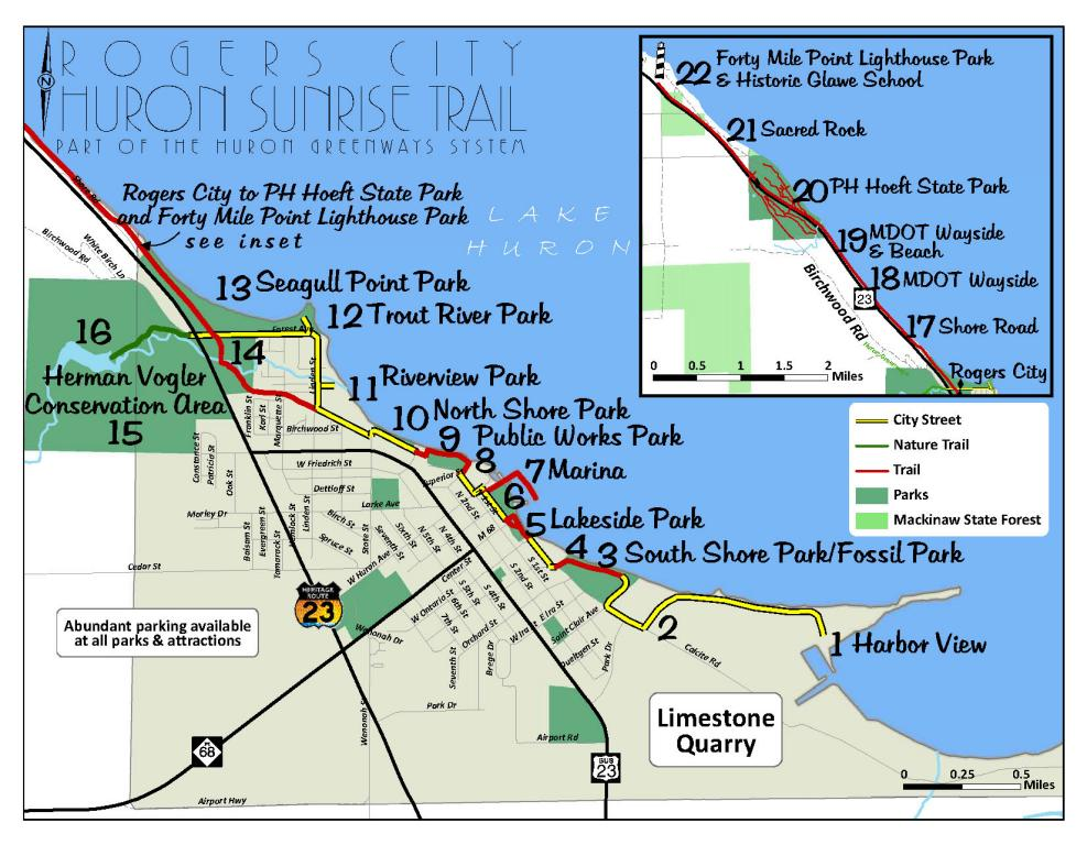 Huron Sunrise Trail Brochure