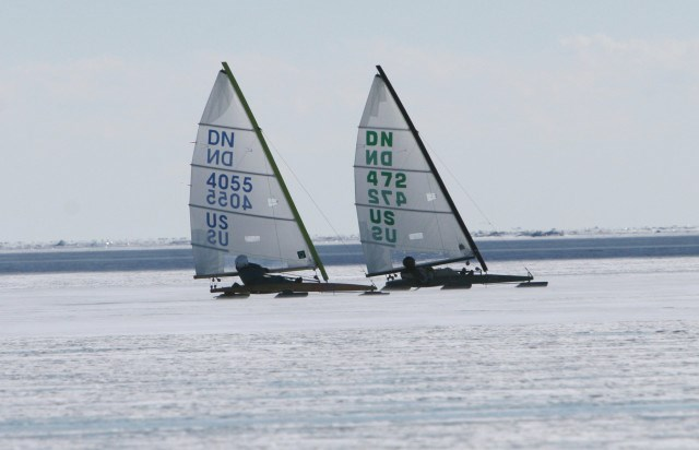 Ice sailing on Tawas Bay