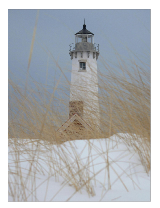 Tawas Point Light in winter