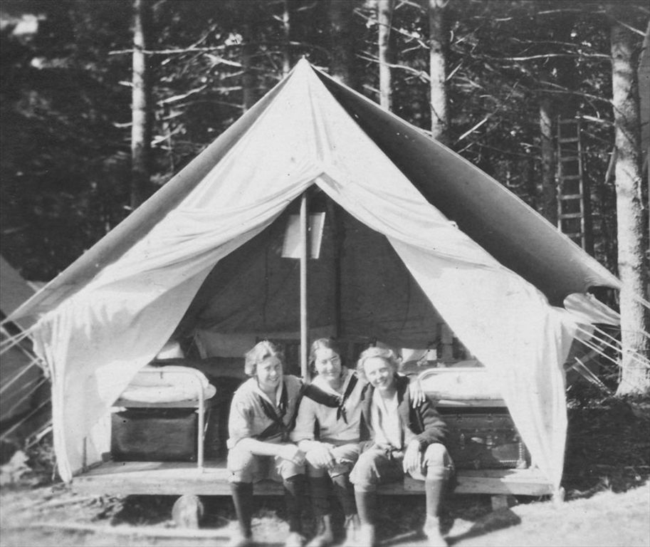 Kamp Kairphree campers anticipate another day of adventure as their day begins at Bell within the Presque Isle community in 1922.