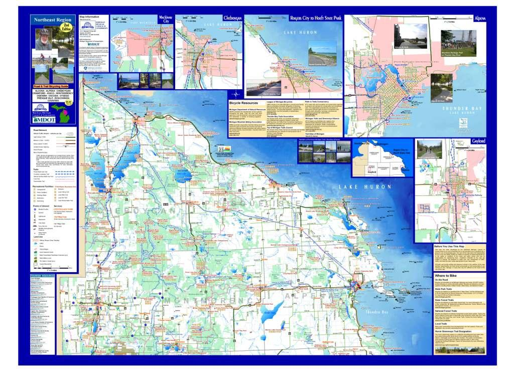 NE Michigan Bicycle Guide Side 1: North