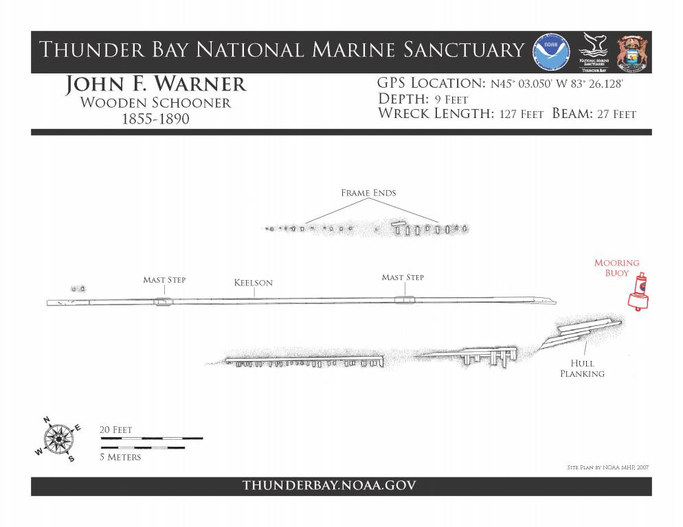 John F. Warner site plan.