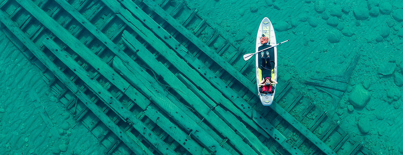 Paddling over Shipwrecks